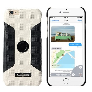 KLD Drive Series for iPhone 6 4.7-inch Hard Shell Car Stand Holder - Black / White