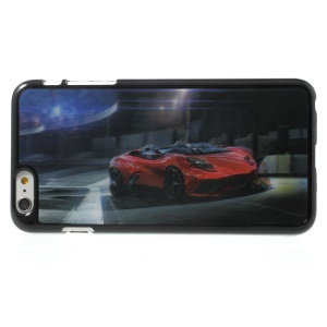 3D Effect Red Sports Car Hard Plastic Case for iPhone 6 Plus
