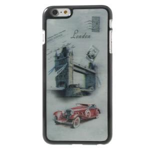 3D Effect London Tower Bridge & Retro Car Hard Plastic Case for iPhone 6 Plus