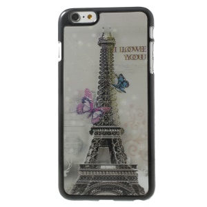3D Effect Eiffel Tower & Butterflies Hard Plastic Cover for iPhone 6 Plus