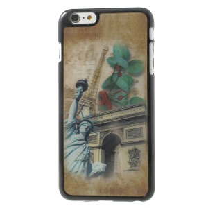 3D Effect Eiffel Tower & Statue of Liberty Hard Plastic Cover for iPhone 6 Plus