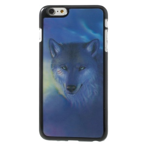 3D Effect Fierce Wolf Hard Plastic Skin Cover for iPhone 6 Plus