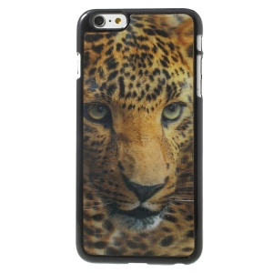 3D Effect Leopard Head Hard Plastic Skin Shell for iPhone 6 Plus