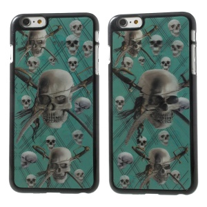 3D Effect Dynamic Skull Heads Hard Plastic Cover Shell for iPhone 6 Plus