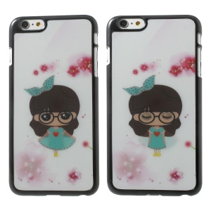 3D Effect Dynamic Cute Bowknot Girl Hard Cover for iPhone 6 Plus