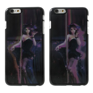 3D Effect Dynamic Pole Dancing Girl Hard Protective Case for iPhone 6 Plus