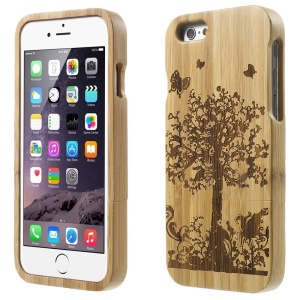Detachable Bamboo Protective Case for iPhone 6 - Butterfly & Tree