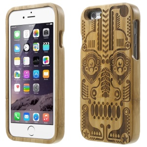 Detachable Carved Bamboo Protective Shell for iPhone 6 - Totem Mask