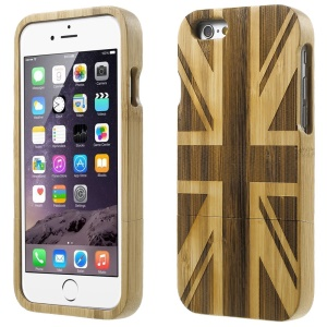 Detachable Carved Bamboo Protective Cover Shell for iPhone 6 - UK National Flag