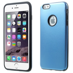 Aluminium Alloy Metal + Silicone Case Shell for iPhone 6 Plus 5.5 inch - Dark Blue