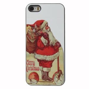 Merry Christmas Santa Claus Aluminium Alloy Skin Hard Case for iPhone 5 5s