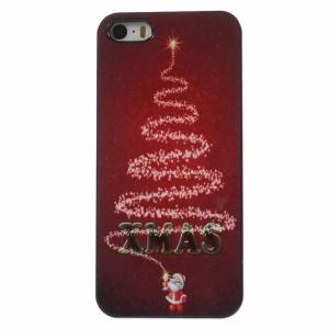XMAS Santa Lighting Fireworks Aluminium Alloy Skin Plastic Shell for iPhone 5 5s