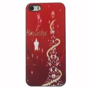 Christmas Sparkling Stars Aluminium Alloy Skin Hard Phone Case for iPhone 5 5s