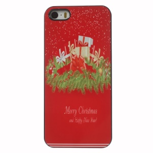 Merry Christmas & Happy New Year Presents Aluminium Alloy Skin Plastic Case for iPhone 5 5s