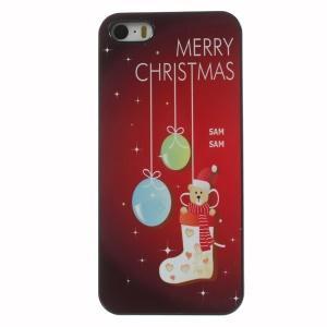 Christmas Cute Bear in the Sock Aluminium Alloy Skin Hard Shield Case for iPhone 5 5s