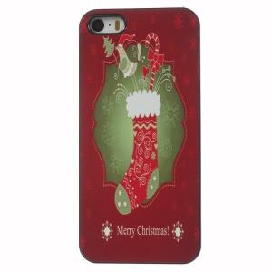 For iPhone 5 5s Christmas Presents Sock Aluminium Alloy Skin Plastic Back Case