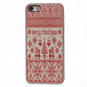 Tribal Style Merry Christmas Aluminium Alloy Skin Hard PC Case for iPhone 5 5s