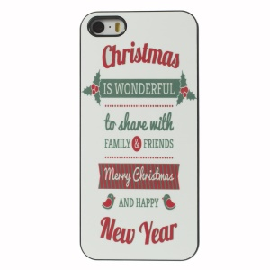 Quote Christmas Is Wonderful Aluminium Alloy Skin PC Phone Cover for iPhone 5 5s