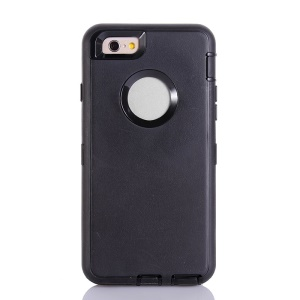 Plastic & TPU Robot Combo Impact-resistant Case for iPhone 6 4.7 Inch - Black
