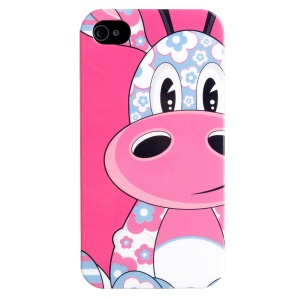 LOFTER IMD Cartoon Series Plastic Protective Case for iPhone 4 4s - Cute Giraffe Loew