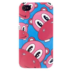LOFTER IMD Cartoon Series PC Skin Shell for iPhone 4 4s - Cute Animal