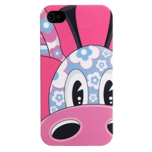LOFTER IMD Cartoon Series PC Skin Shell for iPhone 4 4s - Giraffe Loew Head