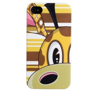 LOFTER IMD Cartoon Series Plastic Case for iPhone 4 4s - Half Face of Giraffe Loew