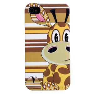 LOFTER IMD Cartoon Series Plastic Cover for iPhone 4 4s - Gentle Giraffe Loew