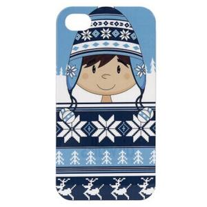 LOFTER Fresh Series IMD Hard Back Case for iPhone 4 4s - Cute Wearing Hat Boy