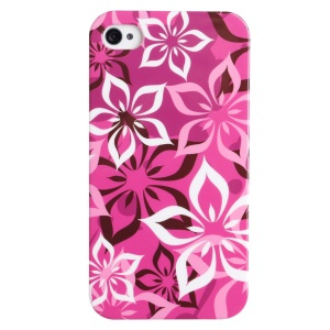 LOFTER Fresh Series IMD Plastic Case for iPhone 4 4s - Pretty Chinese Redbuds