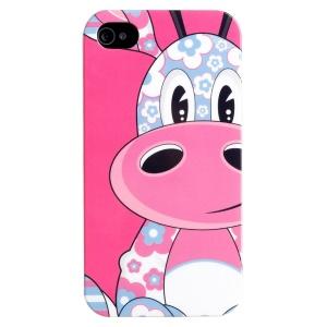 LOFTER Cartoon Series IMD Plastic Hard Cover for iPhone 5 5s - Cute Giraffe Suzan