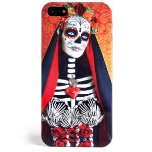 LOFTER Skull Series IMD Plastic Hard Case for iPhone 5 5s - Queen of The Skull