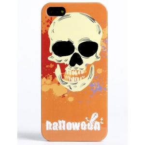 LOFTER Skull Series IMD Plastic Cover Shell for iPhone 5 5s - Orange Halloween Skull