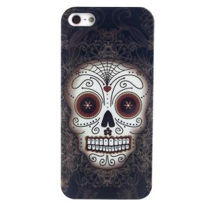 LOFTER Skull Series IMD PC Hard Skin Case for iPhone 5 5s - King of The Skull
