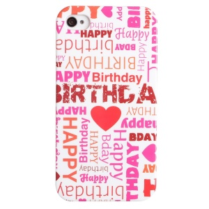 LOFTER Fresh Series IMD Plastic Hard Case for iPhone 5 5s - Happy Birthday Letters