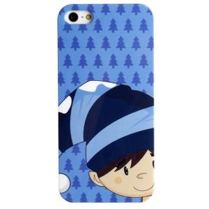 LOFTER Fresh Series IMD Plastic Back Shell for iPhone 5 5s - Cute Wearing Hat Boy