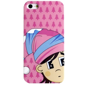 LOFTER Fresh Series IMD Plastic Hard Cover for iPhone 5 5s - Cute Wearing Hat Girl