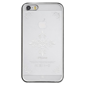 BASEUS Royal Case for iPhone 5s 5 Hard Shell Cover 0.75mm - Silver Snow Pattern