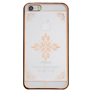 BASEUS Royal Case for iPhone 5s 5 Plastic Cover 0.75mm - Rose Gold Snow Pattern