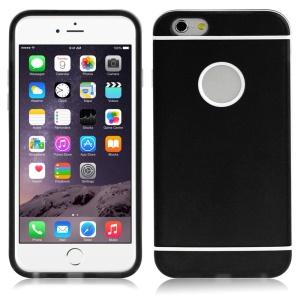 ENKAY for iPhone 6 4.7-inch Protective PC Edges & TPU Hybrid Case - Black