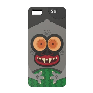 OUNUO Monster Pattern PC + TPU Back Case for iPhone 5s 5 - Monkey Sa!