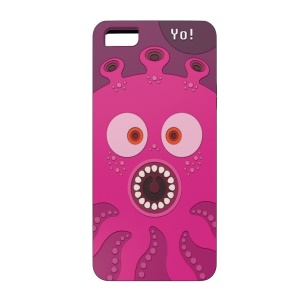 OUNUO for iPhone 5s 5 Monster Pattern Hybrid PC + TPU Shell - Octopus Yo!