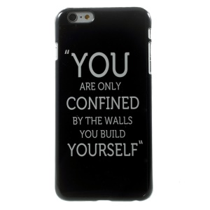 Quote You are Only Confined by the Walls You Build Yourself for iPhone 5 Plus Metal Skin Hard Case