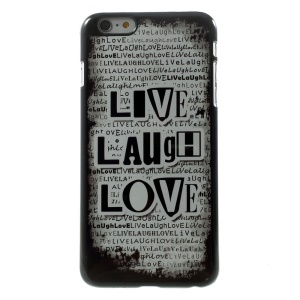 Quote Live Laugh Love for iPhone 5 Plus Metal Skin Hard Case Shell