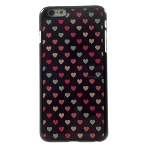 Colorful Hearts for iPhone 5 Plus Metal Skin Hard Plastic Case Cover