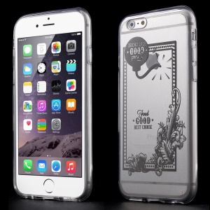 Bomb & Flowers Clear Acrylic and TPU Edges Hybrid Case Cover for iPhone 6 Plus