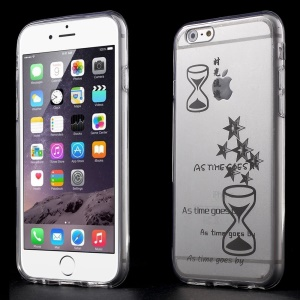 Hourglass & Stars Clear Acrylic and TPU Edges Hybrid Cover for iPhone 6 Plus