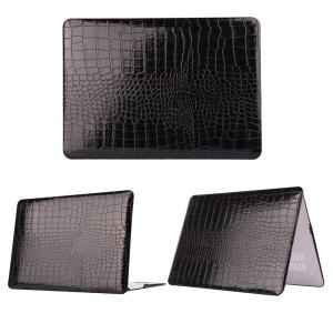 Crocodile Skin Leather Snap-on Hard Case for MacBook Pro 13.3 Inch Retina Display