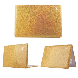 Gold Sequins Skin Leather Snap-on PC Cover for MacBook Pro 13.3 Inch Retina Display