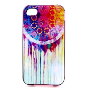PC Bumper and TPU Combo Case for iPhone 4 4S - Watercolor Dream Catcher